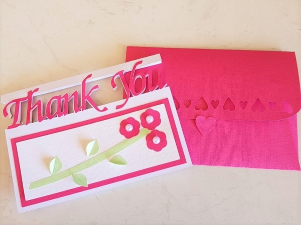 Thank you card and envelope for the post how to create a thank you card